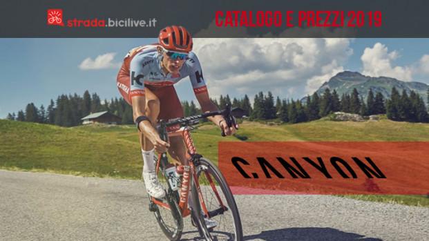 Le bici da corsa 2019 di Canyon: catalogo e listino prezzi