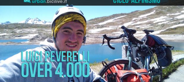 Il Ciclo-Alpinismo di Luigi Peverelli: Over 4000 la sua impresa