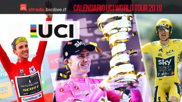 Il calendario delle gare UCI World Tour 2019