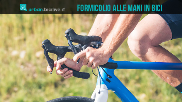 Il formicolio alle mani quando si va in bicicletta: cause e rimedi