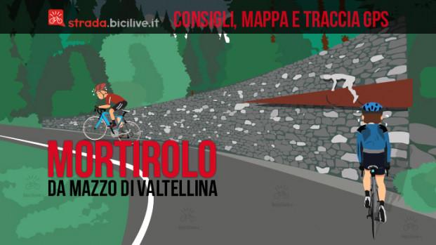 La salita al passo del Mortirolo da Mazzo di Valtellina