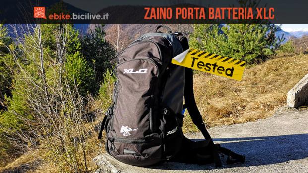 Test zaino porta batteria ebike XLC con paraschiena