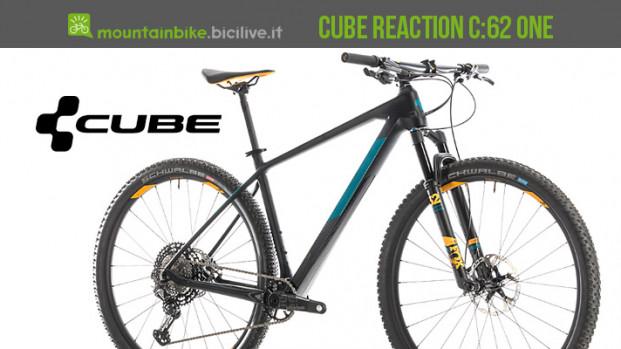 CUBE Reaction C:62 ONE 2019: la MTB da XC in carbonio