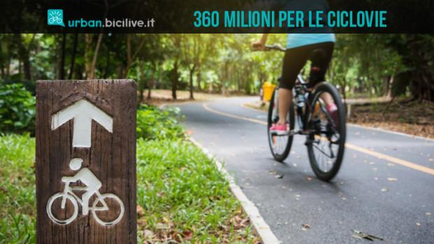 Più di 360 milioni di euro per il Sistema nazionale di ciclovie turistiche