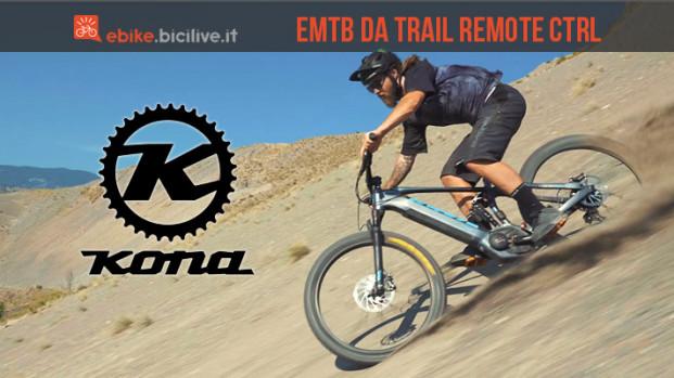 Kona Remote CTRL: la eMTB da trail dalle geometrie aggressive