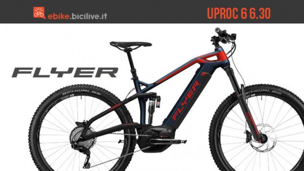 Flyer elettrizza BikeUp 2019 con la biammortizzata UPROC 6 6.30