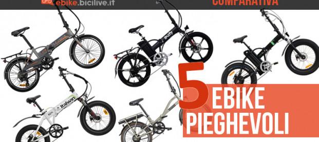 Comparativa: 5 bici elettriche pieghevoli sotto i 1600 euro a confronto