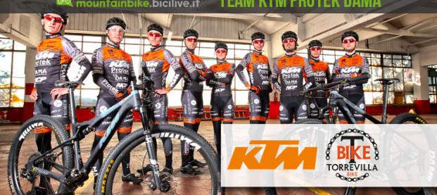 Il team KTM Protek DAMA del Torrevilla Bike