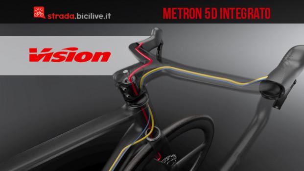 Metron 5D integrato: il manubrio di Vision per il Tour de France