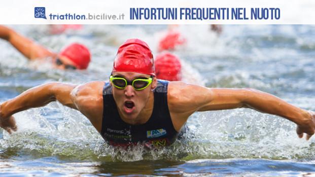 Gli infortuni più frequenti nel nuoto