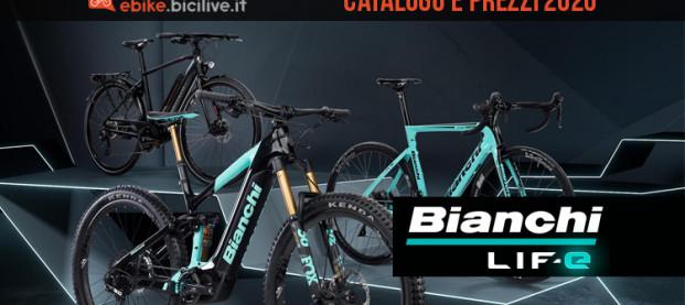 Le ebike Bianchi LIF-E: catalogo e listino prezzi 2020