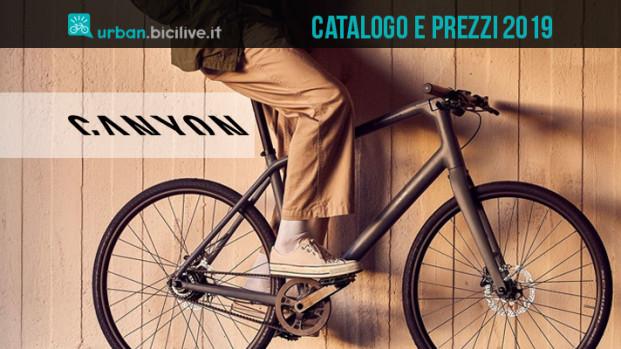 Le bici da fitness e città di Canyon: il catalogo 2019