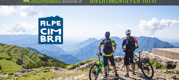 Divertimento in mtb all'Alpe Cimbra il 13 agosto 2019