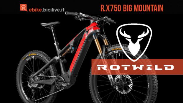 Rotwild R.X750: la potente e-MTB per l'alta guida alpina