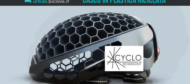 Cyclo, il casco ottenuto con la plastica riciclata degli oceani