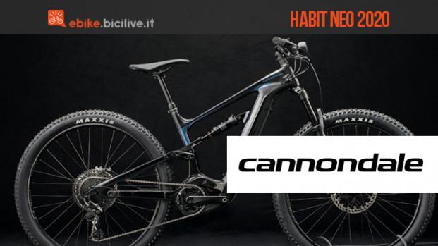 Una nuova gamma di eMTB trail Cannondale per il 2020: Habit Neo