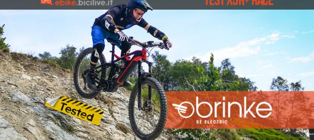Il test della eMTB Brinke X5R+ Race 2020 con batteria integrata