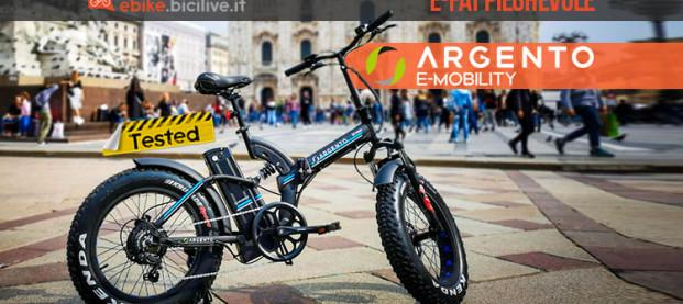 Il test della fat bike elettrica pieghevole Argento Bike Bi Max