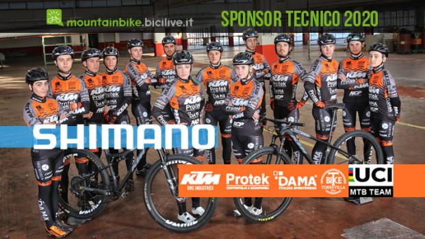 Shimano Italia e KTM Protek Dama insieme per il 2020