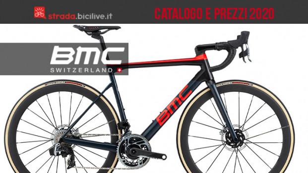 Le bici BMC 2020 da strada, gravel e pista: catalogo e listino prezzi
