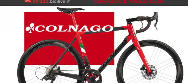 Il catalogo e listino prezzi 2020 delle bici da strada e gravel di Colnago
