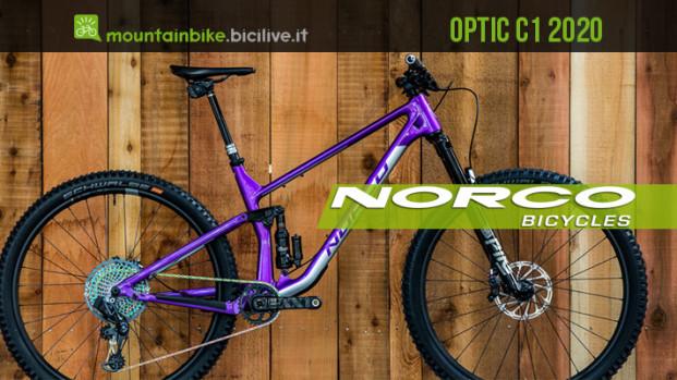 Norco Optic C1 2020: la trail bike che strizza l'occhio all'enduro