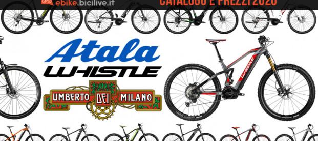 Le bici elettriche 2020 di Atala e Whistle: catalogo e listino prezzi