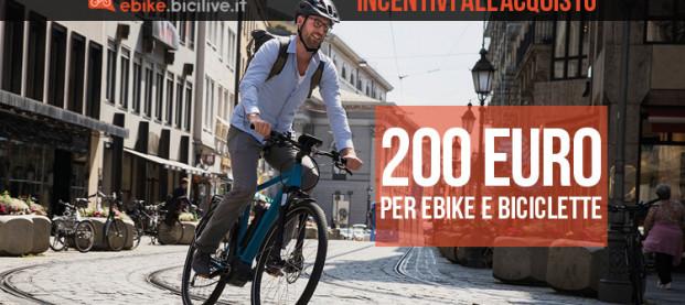 Coronavirus: incentivi di 200 euro per l'acquisto di e-bike nella Fase 2
