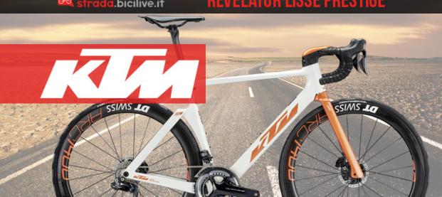 La bici aero KTM Revelator Lisse Prestige 2020: equipaggiata con Dura-Ace Di2