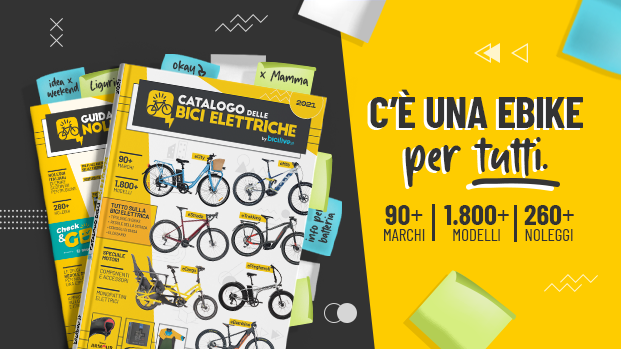 CATALOGO DELLE BICI ELETTRICHE 2021:<br />Ottieni subito la tua copia gratuita