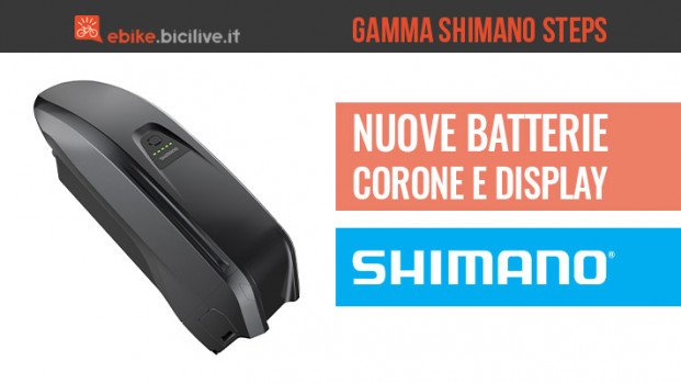 Novità in casa Shimano per le e-bike: batteria, display e corona