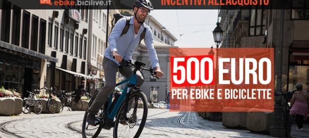 Coronavirus: bonus e incentivi fino a 500 euro per l'acquisto di e-bike nella Fase 2