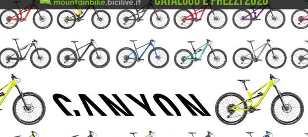 Tutte le mountain bike Canyon 2020: catalogo e listino prezzi
