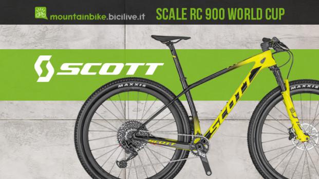 La mtb hardtail Scott Scale RC 900 World Cup 2020