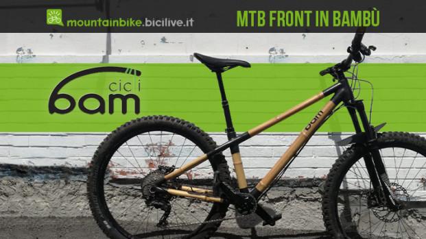 Heidi di BAM Cicli: la nuova MTB front in bambù