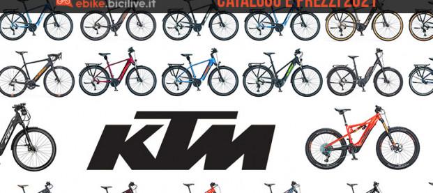 Catalogo e listino prezzi 2021 delle e-Bike e delle e-MTB di KTM