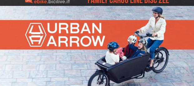 La nuova e-Cargo Urban Arrow Family Cargo Line Disc Zee 2021