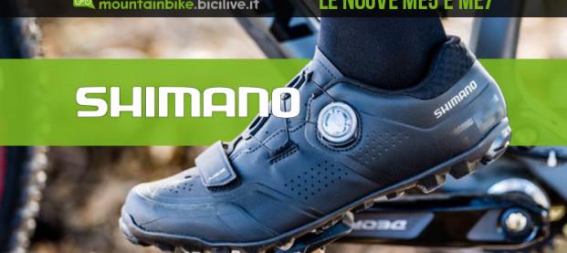 Le scarpe MTB Shimano ME7 e ME5 si rinnovano