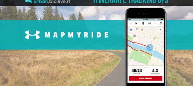 L'App MapMyRide, per allenamenti in bici con GPS