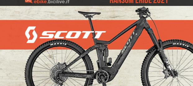 Nuova Scott Ransom eRide: un'ebike gravity dalla lunga escursione