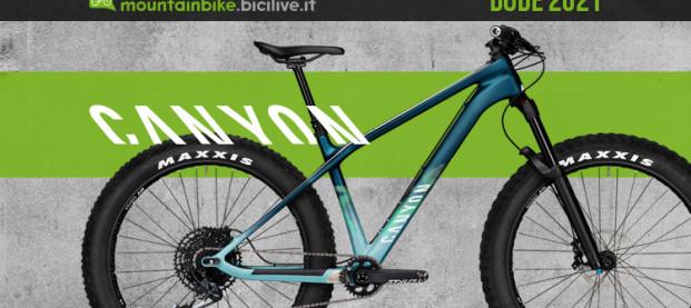 Canyon Dude 2021: una fat bike polivalente per il trail riding