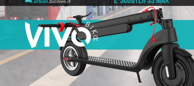 Il monopattino elettrico Vivobike e-scooter S3 Max: più potenza e più durata