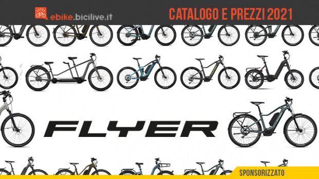 Il catalogo e il listino prezzi delle e-bike Flyer 2021