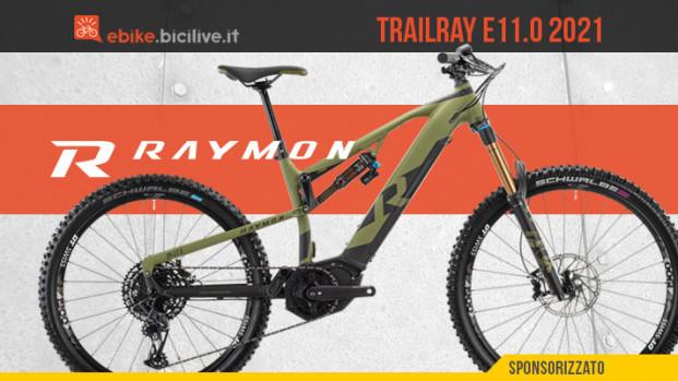 La nuova R Raymon Trailray E11.0 2021: una eMTB mullet da enduro dal prezzo aggressivo
