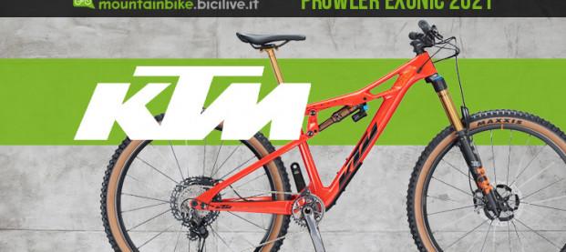 Nuova KTM Prowler Exonic 2021: una 29″ biammortizzata tuttofare
