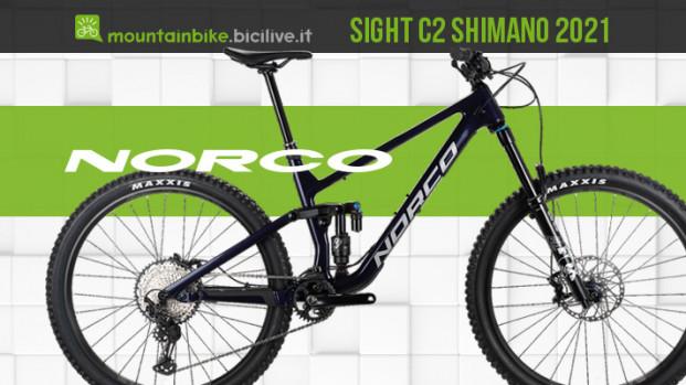 Norco Sight C2 Shimano 2021, una MTB all mountain aggressiva