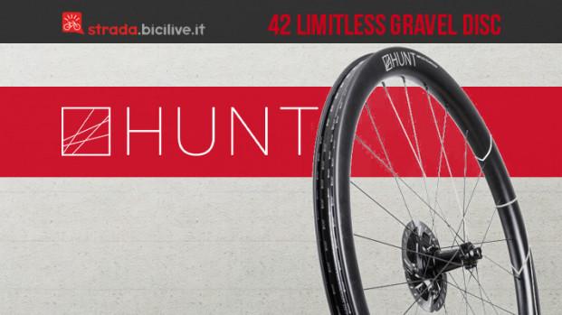 Ruote Hunt 42 Limitless Gravel Disc: aerodinamiche e resistenti per l'off-road