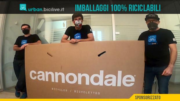 Cannondale usa imballaggi ecosostenibili per le sue biciclette