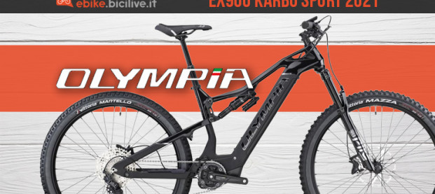 Olympia EX900 Karbo Sport: carbonio, super batteria e motore Oli Sport