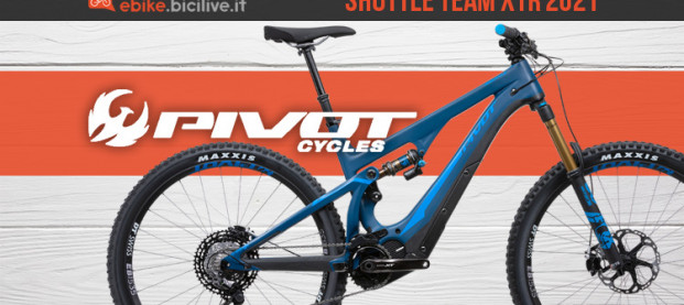 Pivot Shuttle Team XTR 2021: e-MTB rinnovata con motore Shimano EP8